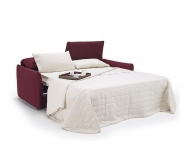 Sofa bed arioso with ready bed mechanism and mattress available in spring, memory foam or greenplus